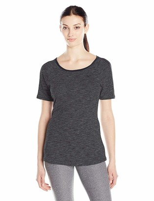 Columbia Women's Outer-Spaced Short Sleeve Tee Black Dye Large