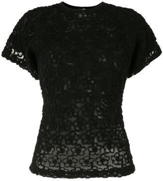 Comme Des Garçons Pre-Owned lace panelled T-shirt