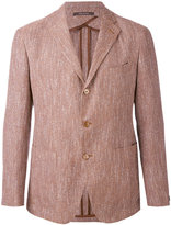 Tagliatore woven single breasted jacket - men - Cotton/Linen/Flax/Acrylic/Cupro - 52