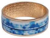Sam & Libby Women's Medium Bangle Bracelet - Gold/Blue