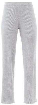 Skin Katia Ribbed Cotton-blend Track Pants - Grey