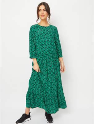George Green Floral Print Midi Dress