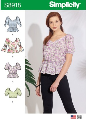 Simplicity Women's Peplum Top Sewing Pattern, 8918