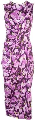 Jason Wu Collection side slit floral print dress