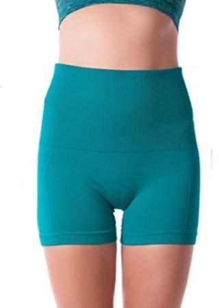 ±0 0 Higi Quality Comfortable Women Fitness Running Yoga Shorts Sports Mini Shorts - MEDIUM JADE