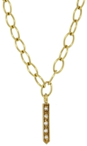 Cathy Waterman Single Fringe on Tiny Lacy Chain Necklace