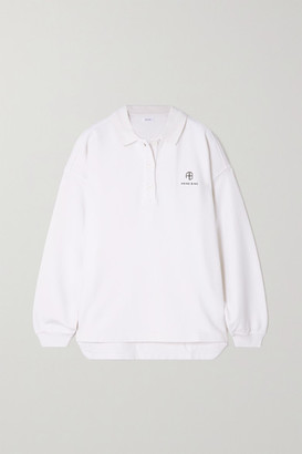 Anine Bing Tatum Embroidered Cotton-jersey Sweatshirt - Ivory