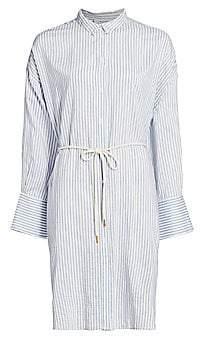 East Coast Nursery Munthe Women's Pinstripe Tie-Waist Shirtdress