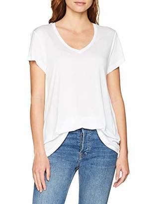 Kaffe Women's Anna V-Neck T-Shirt Optical White 50001, XXL