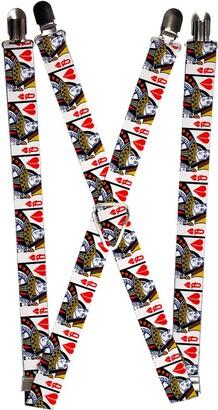Buckle Down Buckle-Down Men's Suspender-Queen of Broken Hearts