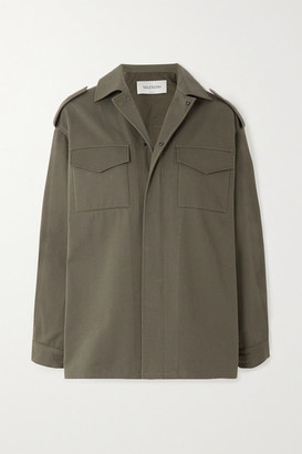 Valentino Cotton-twill Jacket - Green