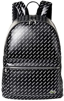Lacoste LIVE Backpack (Black Allover Backpack Bags