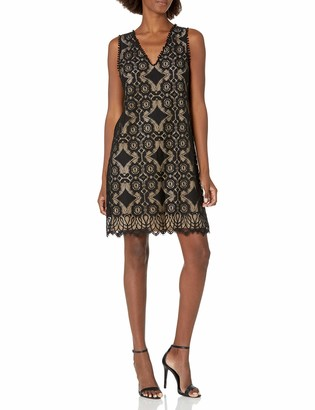 Lark & Ro Amazon Brand Women's Sleeveless Lace Knit Dress