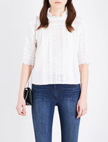 Vanessa Bruno Guibert embroidered-lace cotton-blend blouse