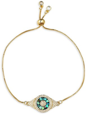 Eye Candy La Luxe Mother-Of-Pearl Crystal Evil Eye Bracelet