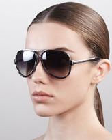 Marc Jacobs Oversized Aviator Sunglasses, Gray Spot Palladium