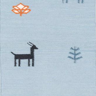 """Momeni Erin Gates by Thompson Porter Blue Hand Woven Wool Runner 2'3""""x"""