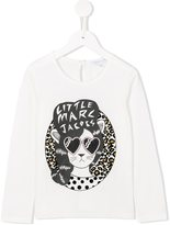 Little Marc Jacobs cat print T-shirt