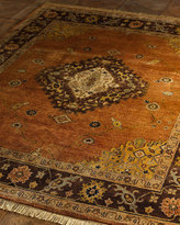 """Horchow """"Chocolate Copper Medallion"""" Rug"""