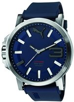 Puma Men's PU103911003 Ultrasize Stainless Steel Watch with Blue Band