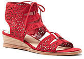 Vince Camuto Retana Ghillie Suede Demi Lace-Up Wedge Sandals