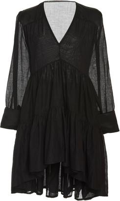 Kalita Vega Pleated Cotton Tunic Dress