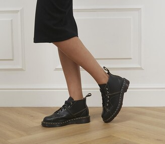 Dr. Martens Church 5 Eye Monkey Boots Black Vintage Smooth