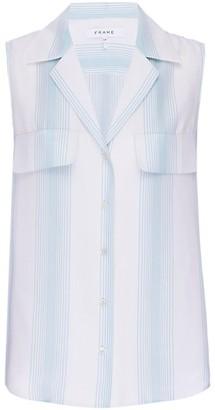 Frame True Silk Sleeveless Shirt