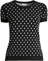 Escada Sport Polka Dot Short Sleeve Pullover