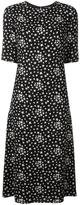 Saint Laurent star print dress - women - Silk/Cotton/Viscose - 40