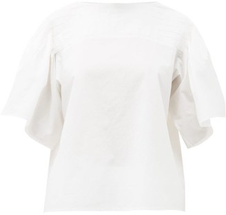 Merlette New York Canova Pleated Cotton-poplin Top - White