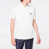 Paul Smith Men's White Embroidered 'Rainbow' Motif Polo Shirt