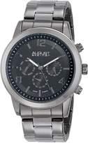 August Steiner Men's AS8098BK Analog Display Swiss Quartz Watch