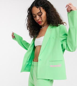 Collusion boxy blazer in mint green