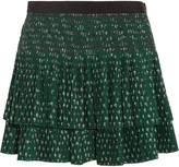 Vanessa Bruno Flynn pleated embroidered crepe mini skirt