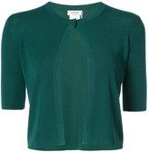 Akris Punto shortsleeved cropped cardigan - women - Wool - 4