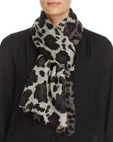 Aqua Wool Animal Print Scarf - 100% Exclusive