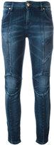 Pierre Balmain ribbed trim skinny jeans - women - Cotton/Polyester/Spandex/Elastane - 28