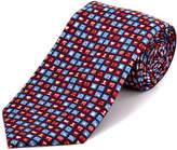 Tailorbyrd Black Emoticons Silk Tie