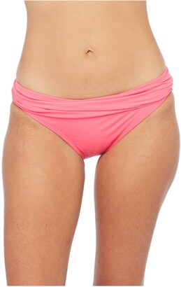 La Blanca Shirred Banded Hipster Bikini Bottoms