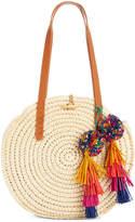 INC International Concepts I.n.c. Melani Circle Straw Bag, Created for Macy's