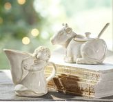 Pottery Barn Eight Maids Milking Sugar Bowl & Creamer