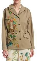 Alberta Ferretti Crop Safari Jacket
