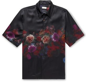 Dries Van Noten Floral-Print Matte-Satin Shirt