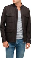 BOSS ORANGE Leather Field Jacket