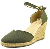 Me Too Blakely Women Open Toe Canvas Wedge Heel.