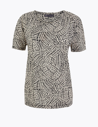 Marks and Spencer Printed Relaxed Fit T-Shirt