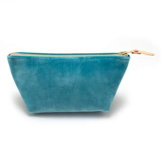 General Knot & Co Tiffany Blue Velvet Travel Clutch