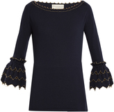 Alex Gore Browne Zigzag wool and cashmere-blend sweater