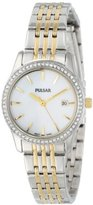 Seiko PULSAR Unisex PH7235 Analog Japanese-Quartz Two Tone Watch